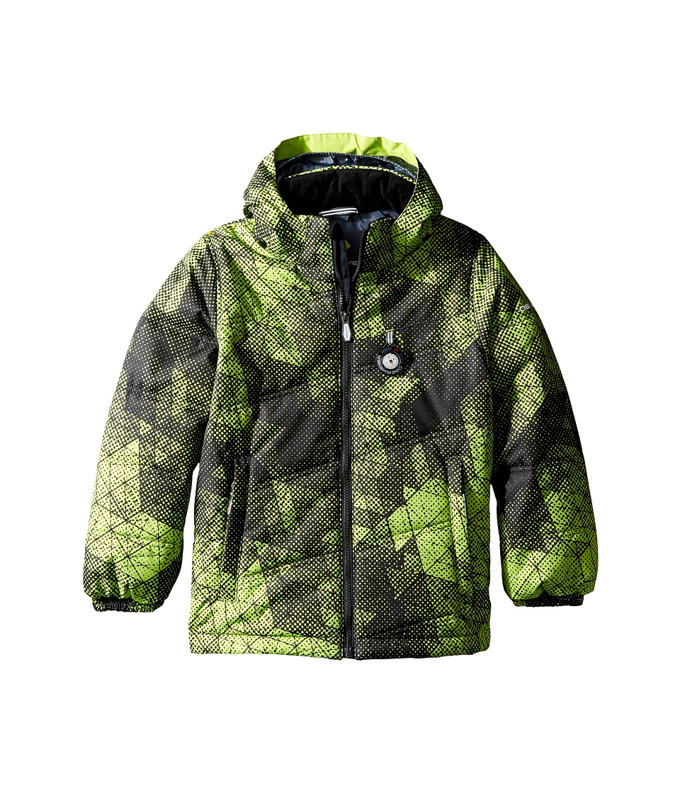 Obermeyer Kids - Stealth Jacket (Toddler/Little Kids/Big Kids) (Green Mesh Print) Boy's Coat