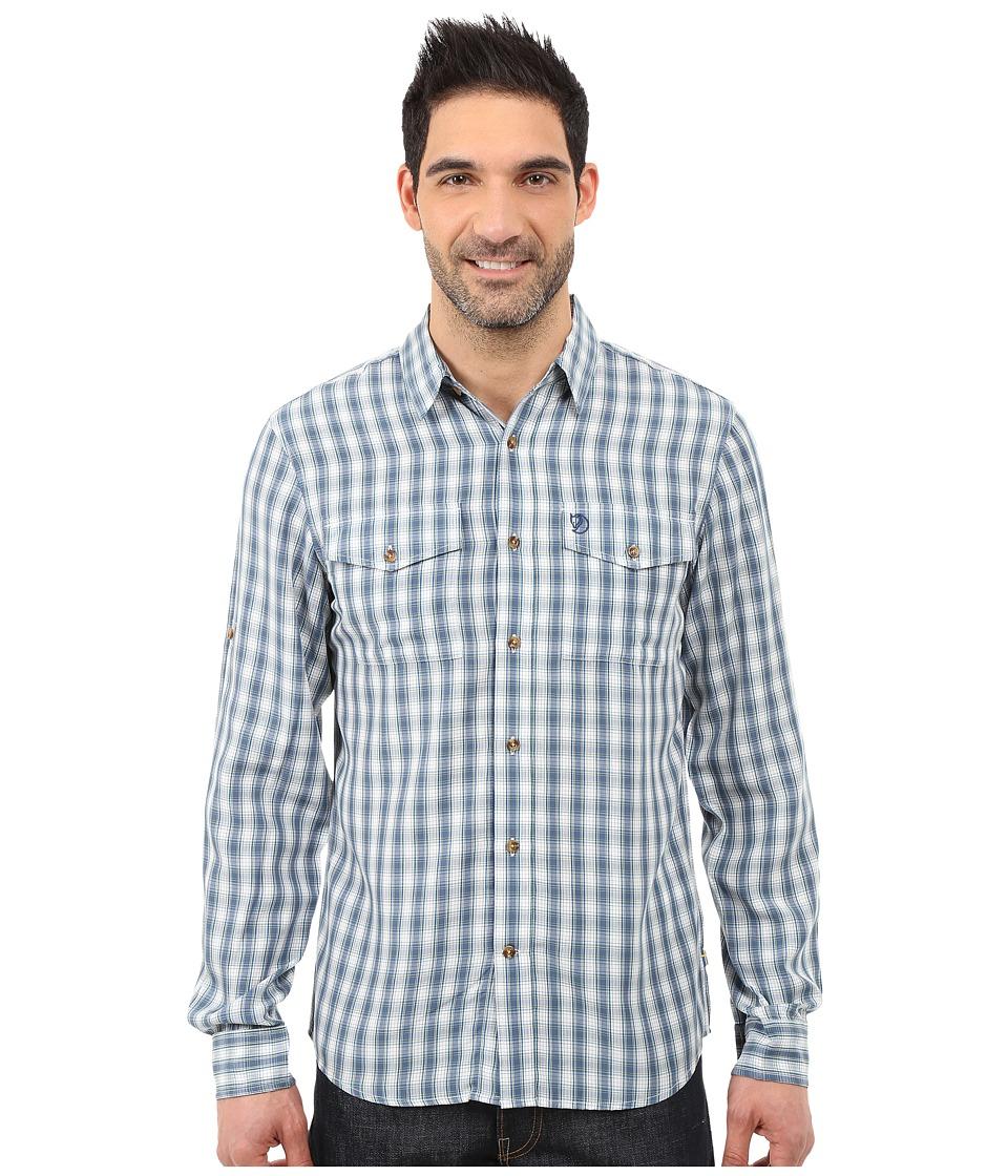 Fj llr ven - Abisko Cool Shirt L/S (Lake Blue) Men's Long Sleeve Button Up