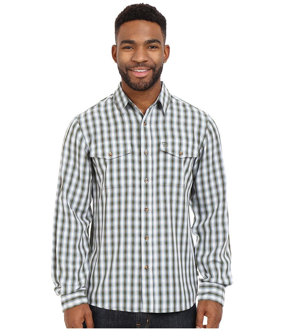 Fj llr ven - Abisko Cool Shirt L/S (Pine Green) Men's Long Sleeve Button Up