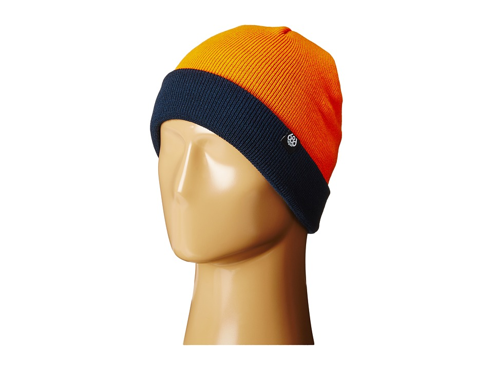 686 Kids - Roll Up Beanie (Little Kid/Big Kid) (Orange) Beanies