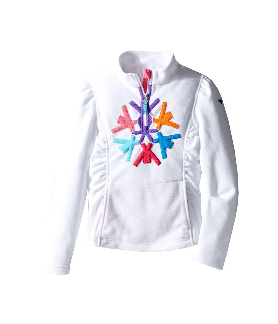 Obermeyer Kids - Snocrystal Fleece Top (Toddler/Little Kids/Big Kids) (White) Girl's Fleece