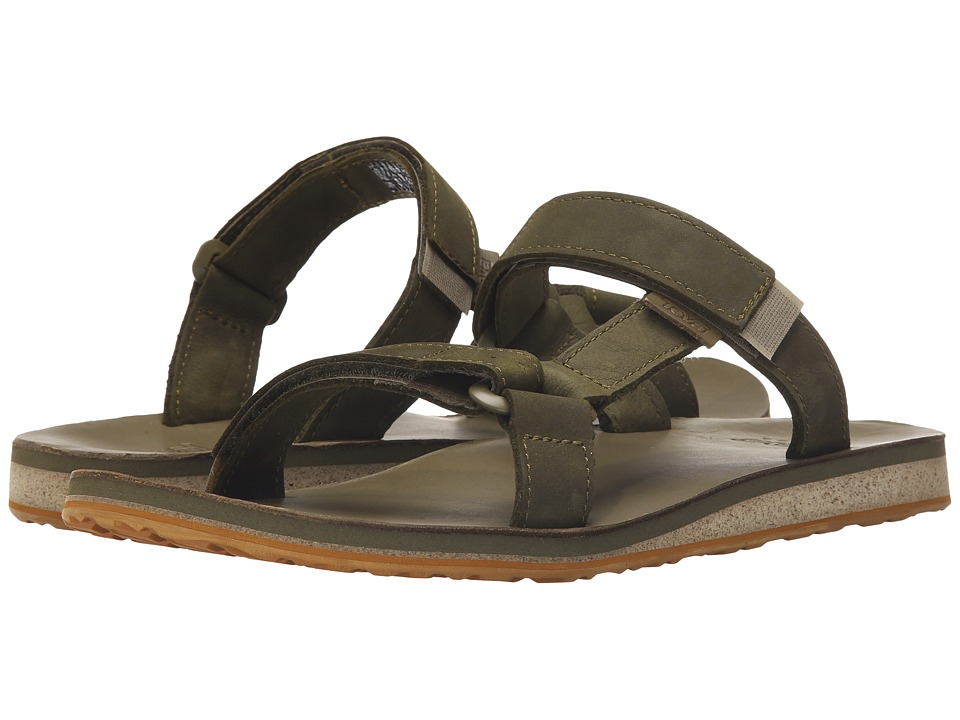 Teva - Universal Slide Leather (Dark Olive) Men's Sandals