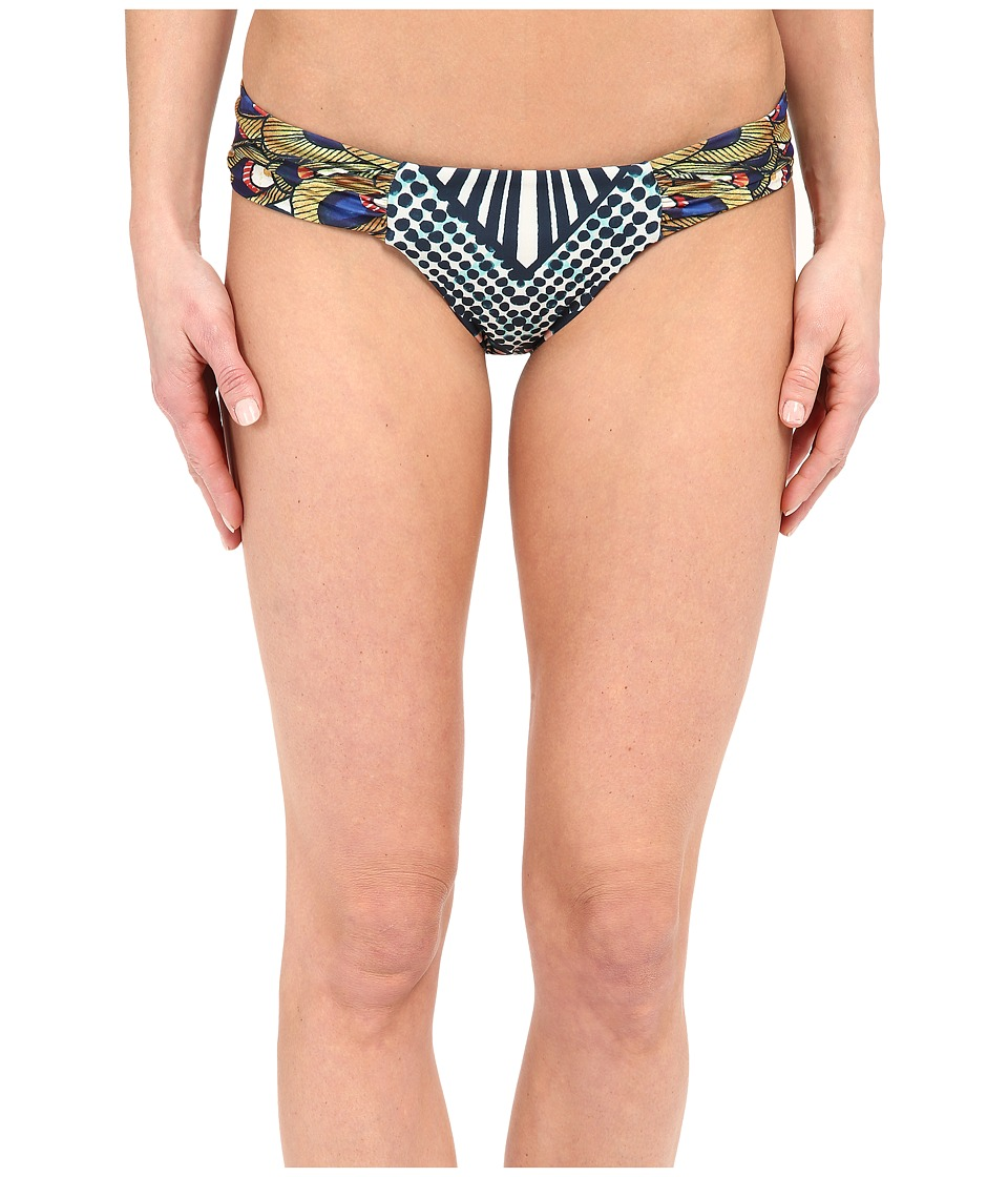 Mara Hoffman - Side Ruched Bottom (Peacocks Green) Women's Swimwear