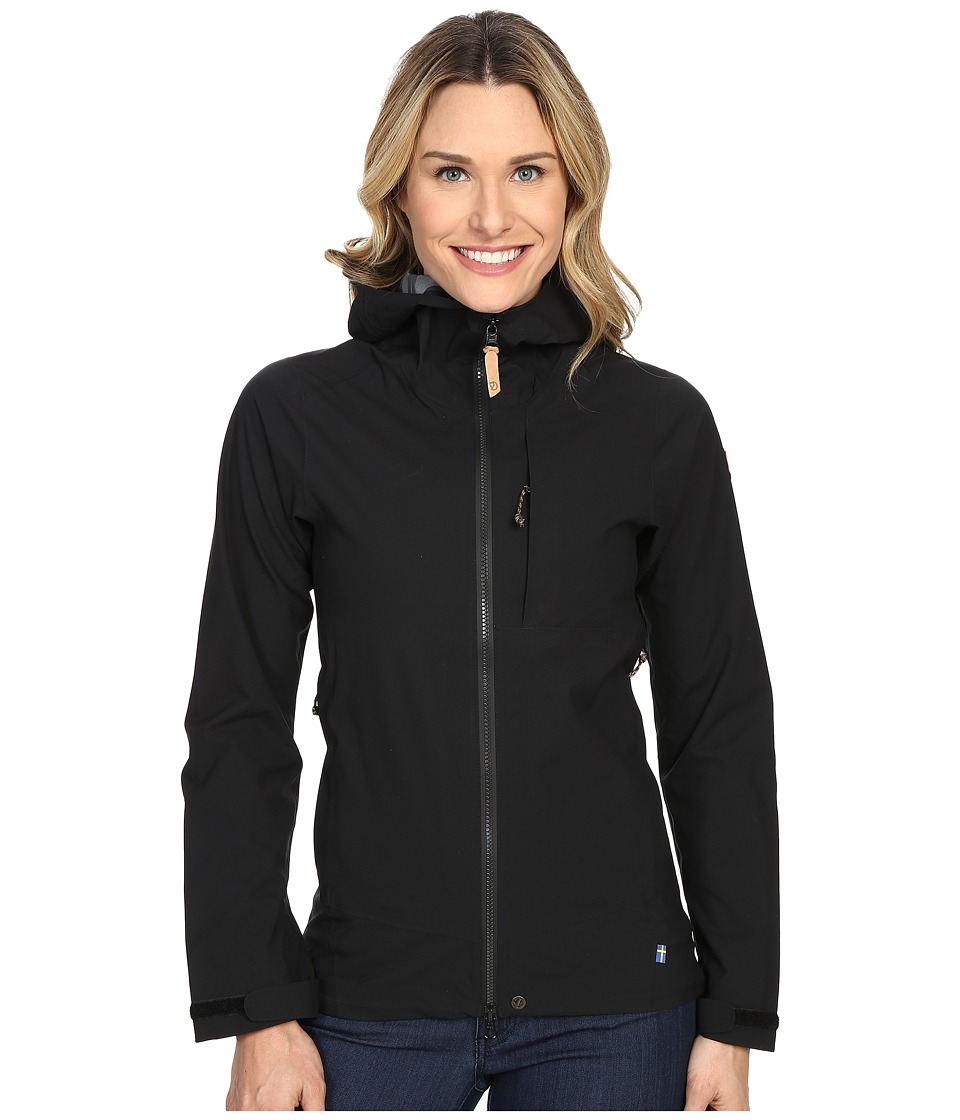 Fj llr ven - Abisko Eco-Shell Jacket (Black) Women's Coat