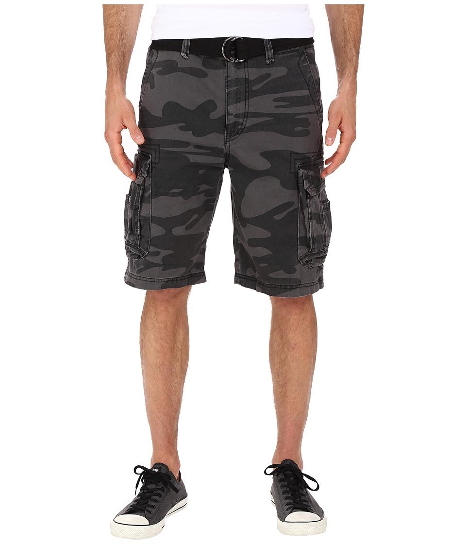 UNIONBAY - Survivor Camo Cargo Shorts (Black Camo) Men