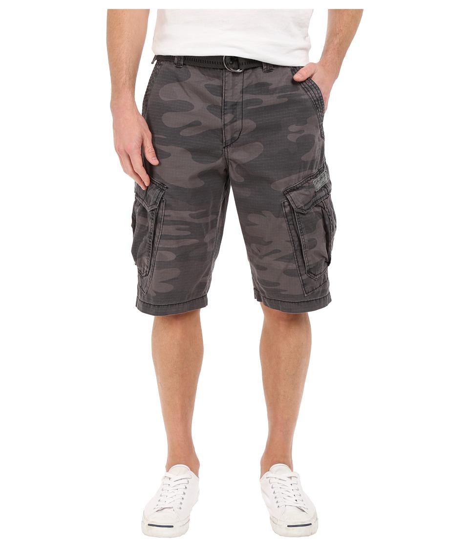 UNIONBAY - Lewis 13 Belted Short (Coal Camo) Men