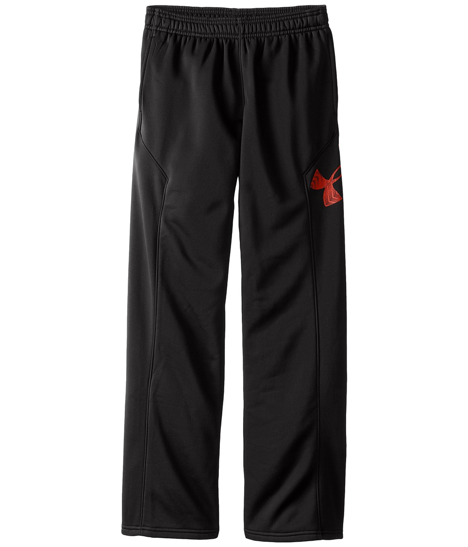Under Armour Kids - Storm Armour(r) Fleece Big Logo Pants (Big Kids) (Black/Red) Boy's Casual Pants