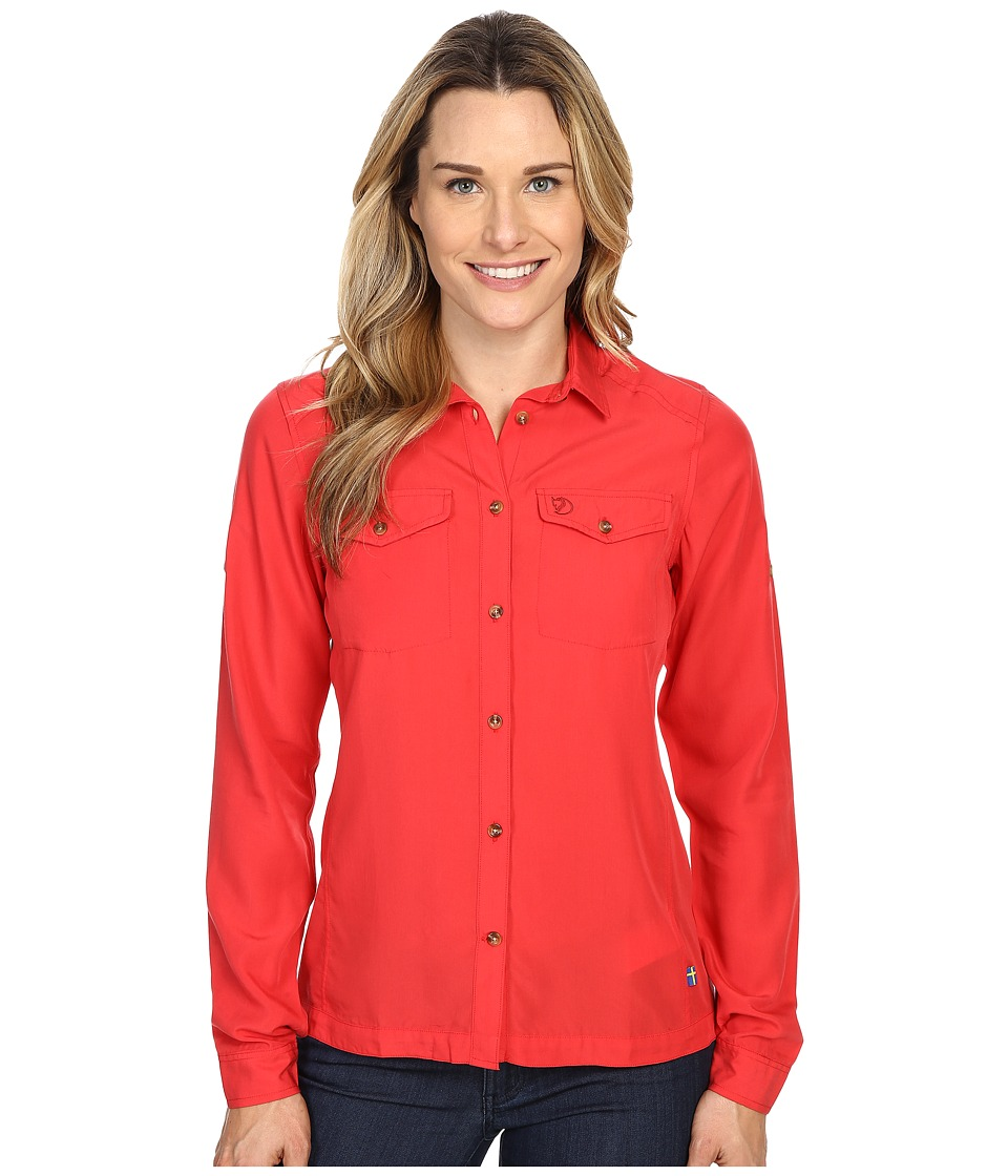 Fjallraven - Abisko Vent Shirt Long Sleeve (Red) Women's Long Sleeve Button Up