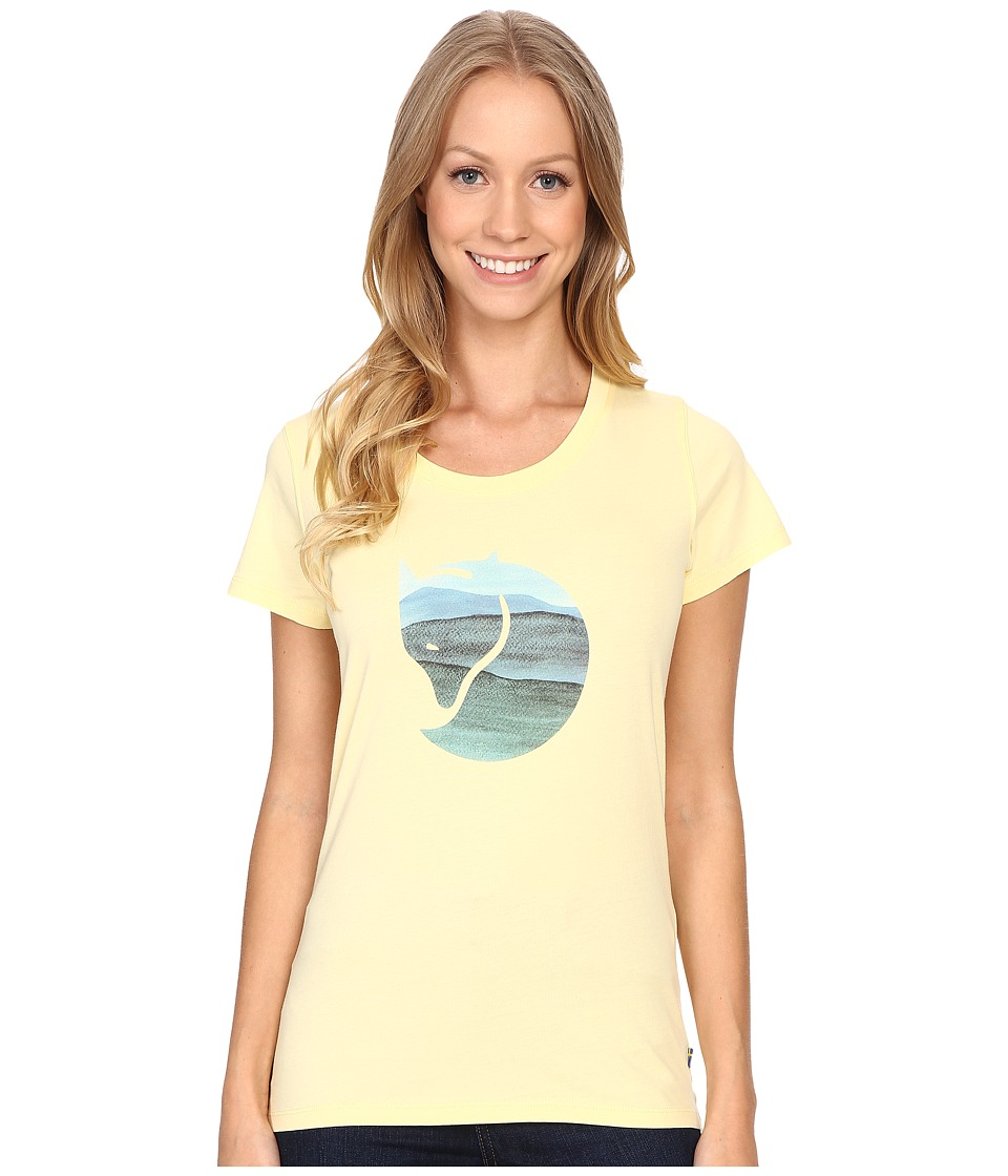 Fj llr ven - Watercolour Fox T-Shirt (Pale Yellow) Women's T Shirt