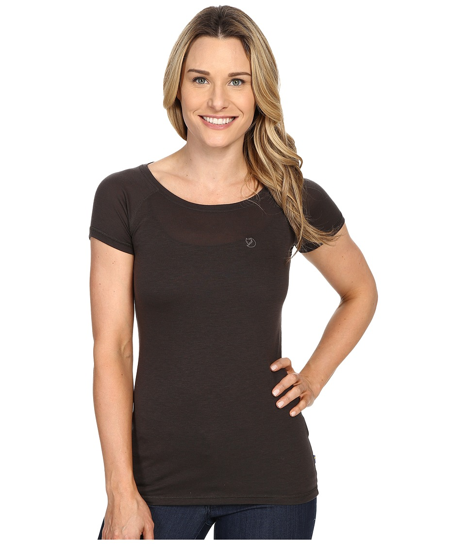 Fj llr ven - Abisko Trail T-Shirt (Dark Grey) Women's Short Sleeve Pullover