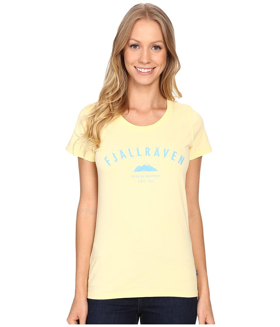 Fjallraven - Trekking Equipment T-Shirt (Pale Yellow/Bluebird) Women's T Shirt