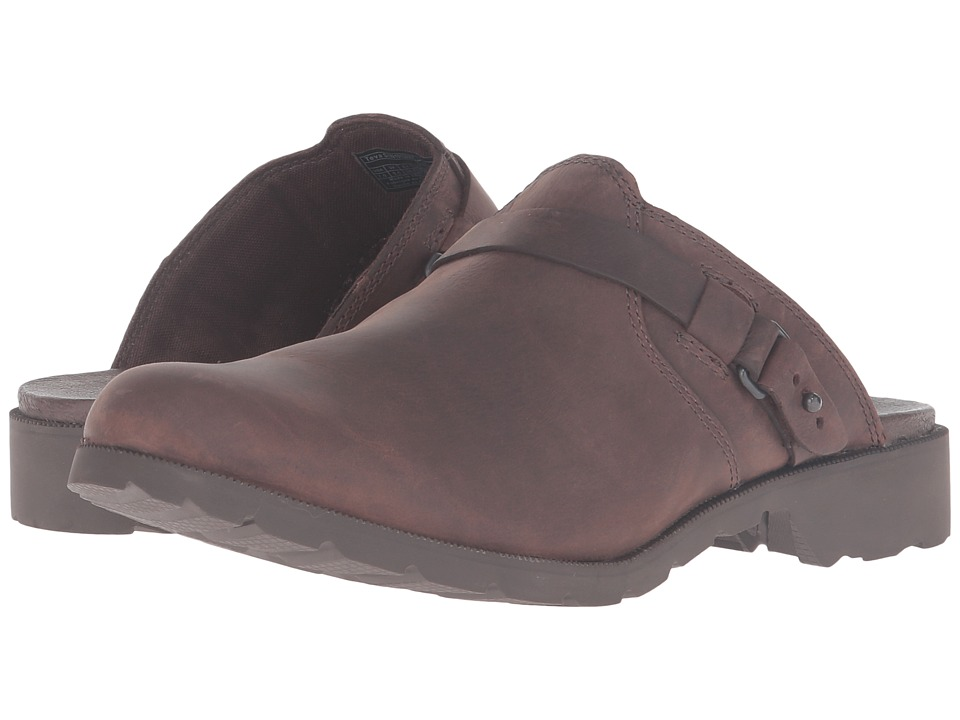 Teva - Delavina Mule (Dark Brown) Women's Clog/Mule Shoes