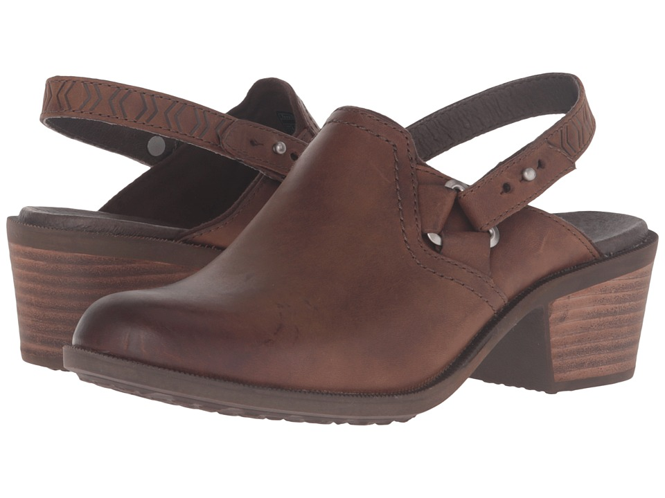 Teva - Foxy Clog Leather (Brown) Women's Clog/Mule Shoes