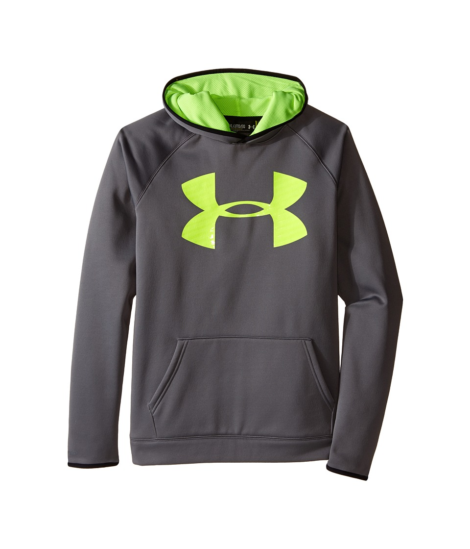 Under Armour Kids - Armour(r) Fleece Storm Highlight Hoodie (Big Kids) (Graphite/Black/Fuel Green) Boy's Sweatshirt