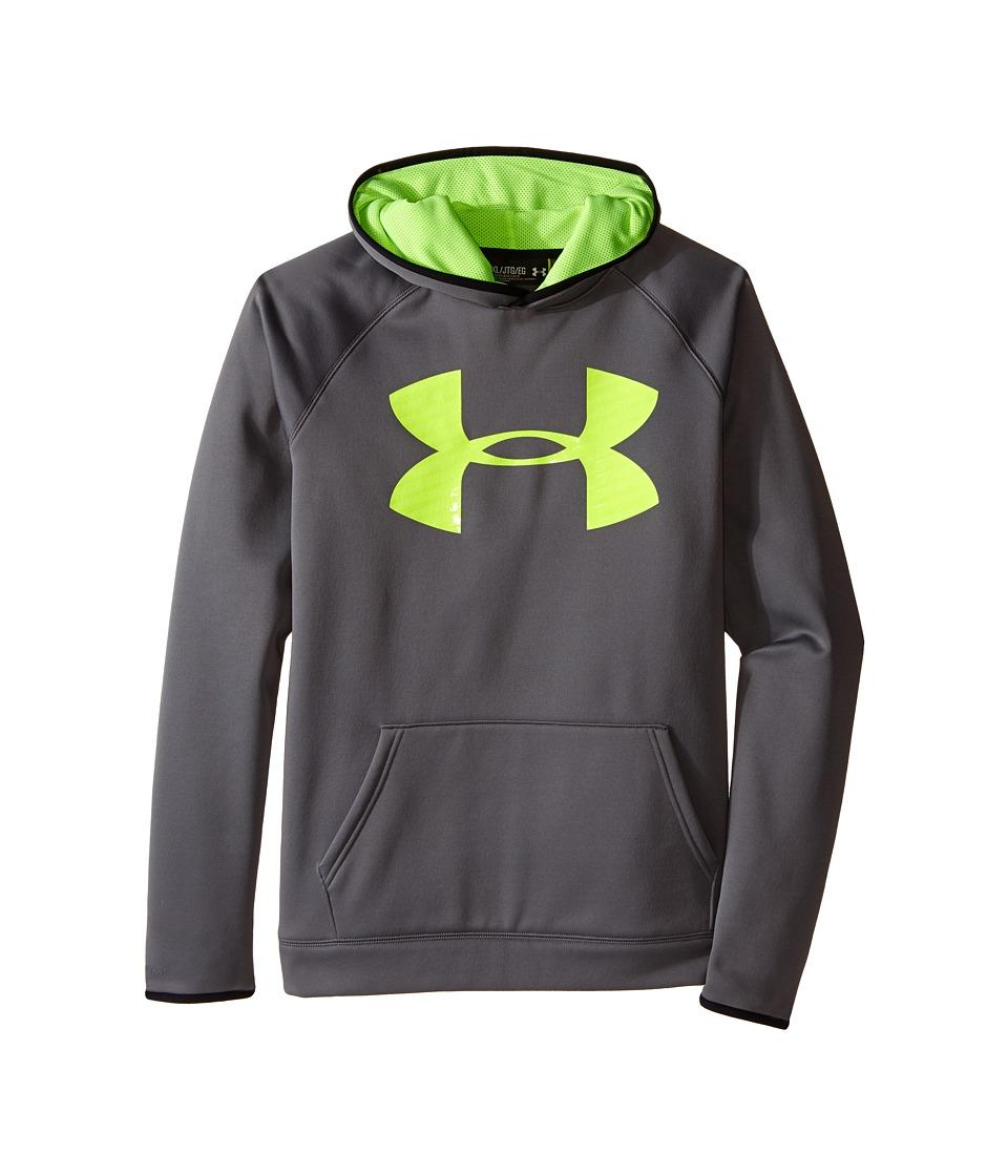Under Armour Kids - Armour(r) Fleece Storm Highlight Hoodie (Big Kids) (Graphite/Black/Fuel Green) Boy's Sweatshirt