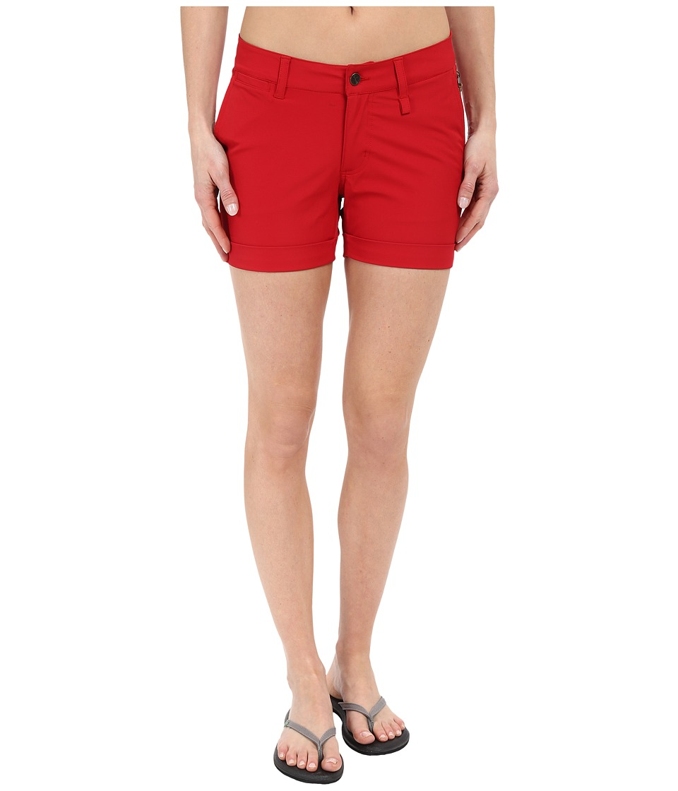 Fj llr ven - Abisko Stretch Shorts (Red) Women's Shorts