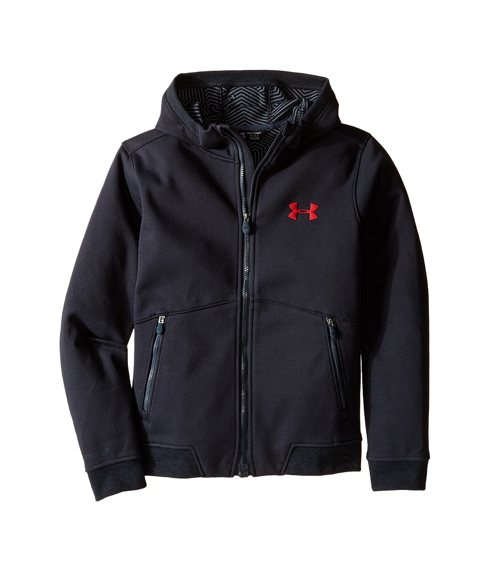 Under Armour Kids - UA CGI Dobson Softshell (Big Kids) (Asphalt Heather/Asphalt Heather/Red) Boy's Fleece