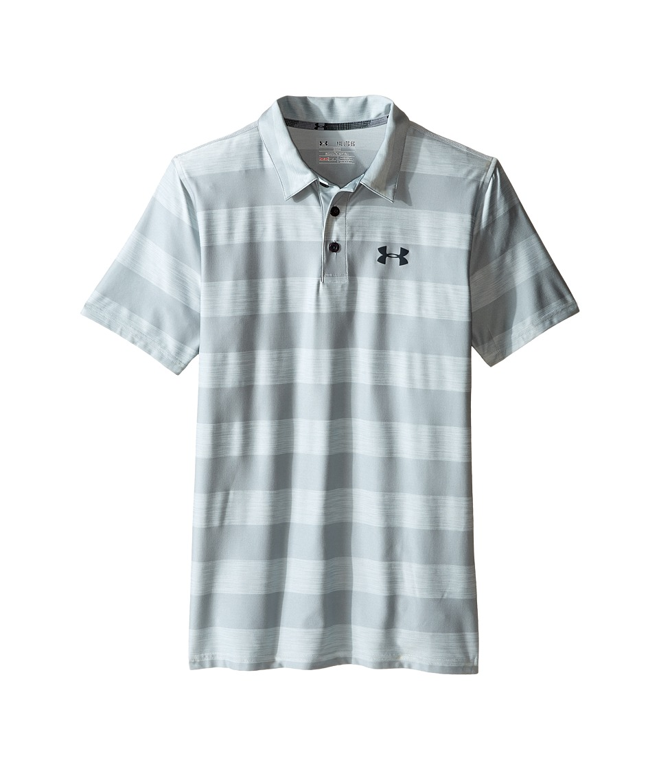 Under Armour Kids - Playoff Stripe Polo (Big Kids) (Overcast Gray/Stealth Gray/Stealth Gray) Boy's Short Sleeve Knit