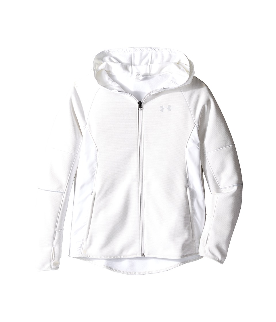 Under Armour Kids - Storm Full Zip Swacket (Big Kids) (White/White/Reflective) Girl's Clothing