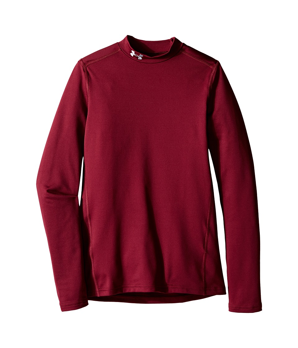 Under Armour Kids - ColdGear(r) Armour Mock (Big Kids) (Maroon/Steel) Boy's Clothing