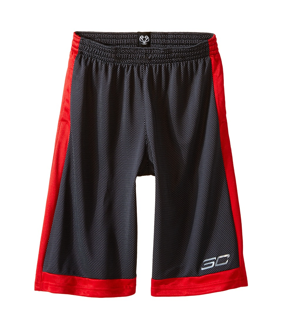 Under Armour Kids - Steph Curry 30 Top Gun Shorts (Big Kids) (Black/Red/Steel) Boy's Shorts