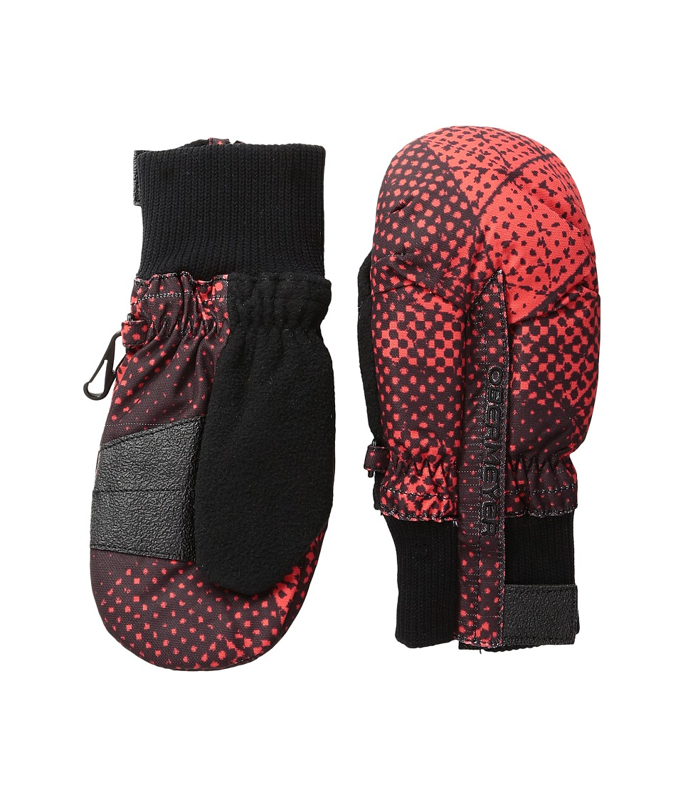 Obermeyer Kids - Thumbs Up Print Mitten (Toddler/Little Kid) (Red Mesh Print) Over-Mits Gloves