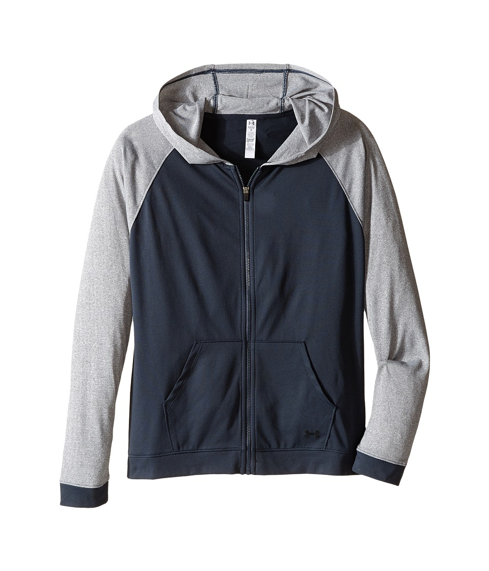 Under Armour Kids - Tech Full Zip Hoodie (Big Kids) (Stealth Gray/Stealth Gray/Black) Girl's Sweatshirt