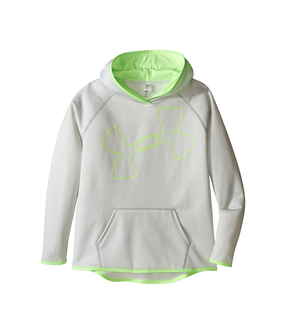 Under Armour Kids - Storm Armour Fleece Big Logo Hoodie (Big Kids) (Air Force Gray Heath/Lime Light/Lime Light) Girl's Sweatshirt