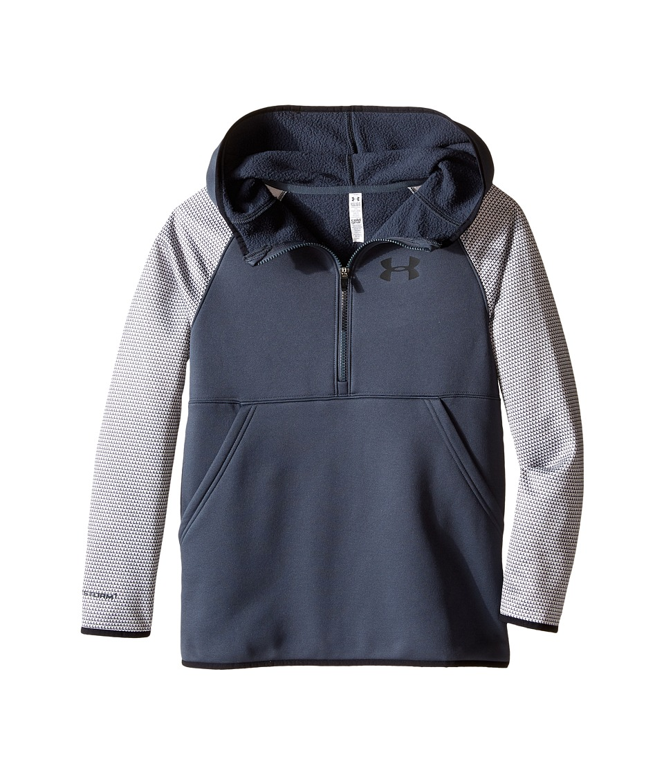 Under Armour Kids - Storm Armour Fleece 1/2 Zip Print Hoodie (Big Kids) (Stealth Gray/Black/Black) Girl's Sweatshirt