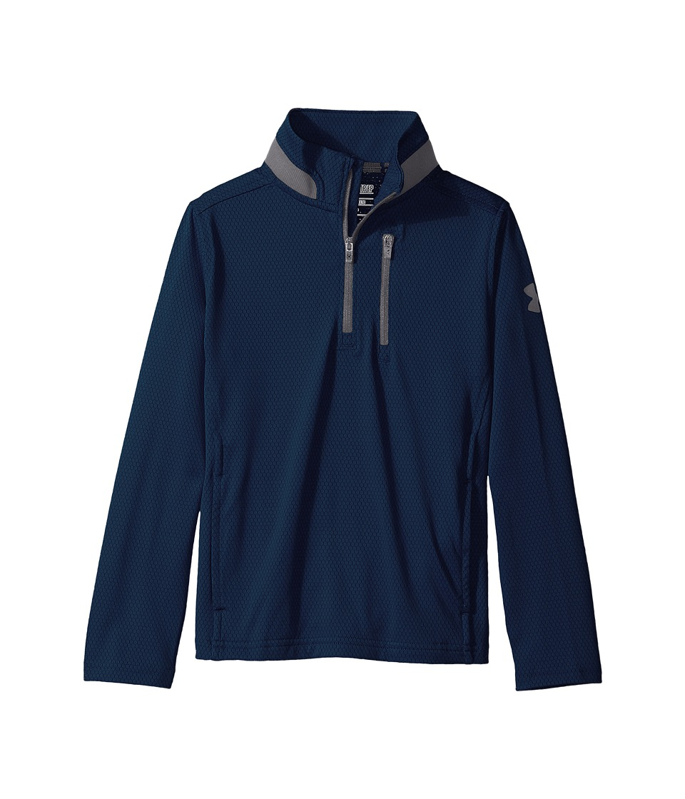 Under Armour Kids - UA Golf 1/4 Zip (Big Kids) (Academy/Graphite/Graphite) Boy's Clothing