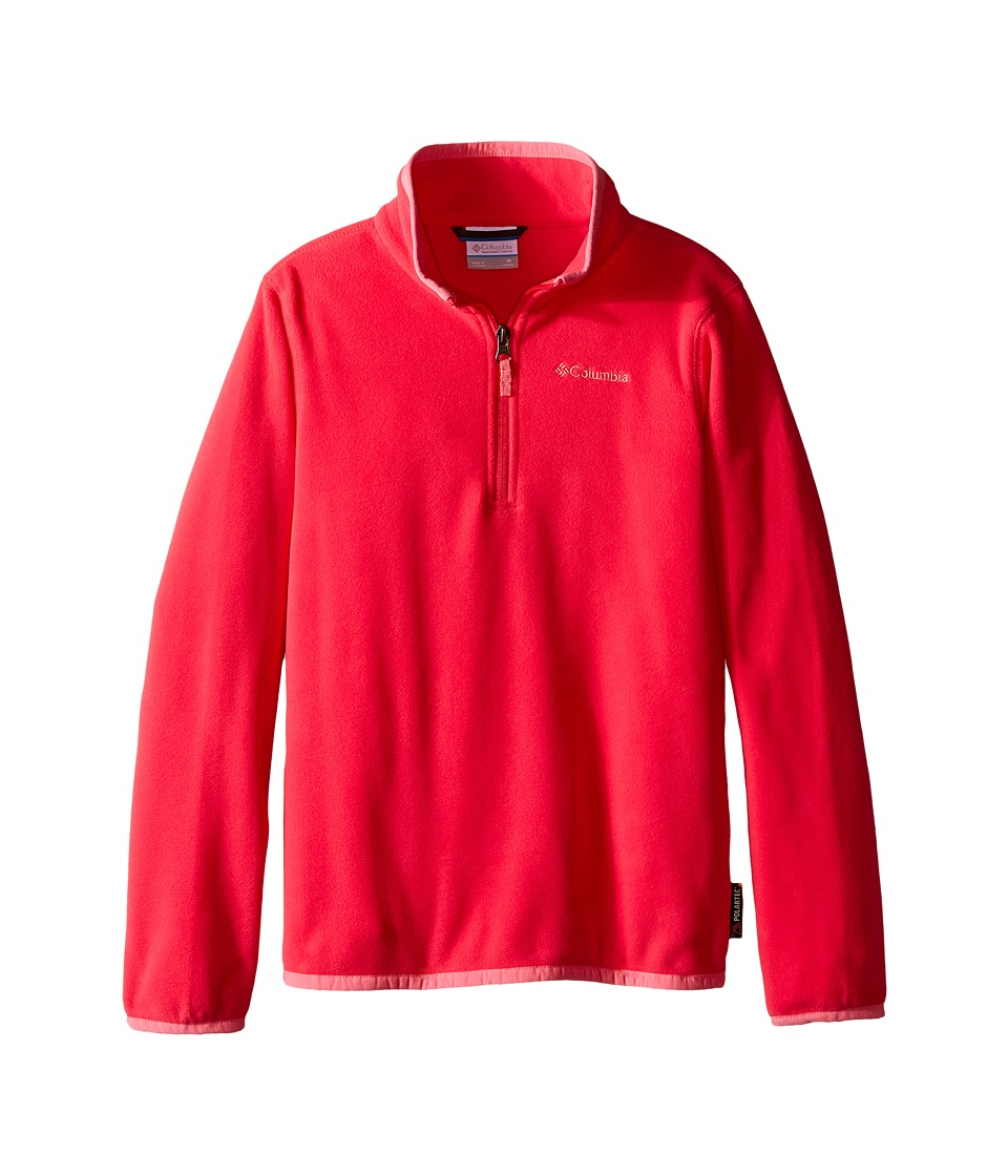 Columbia Kids - Ridge Repeat 1.0 Half Zip Fleece (Little Kids/Big Kids) (Punch Pink/Camellia Rose) Girl's Long Sleeve Pullover