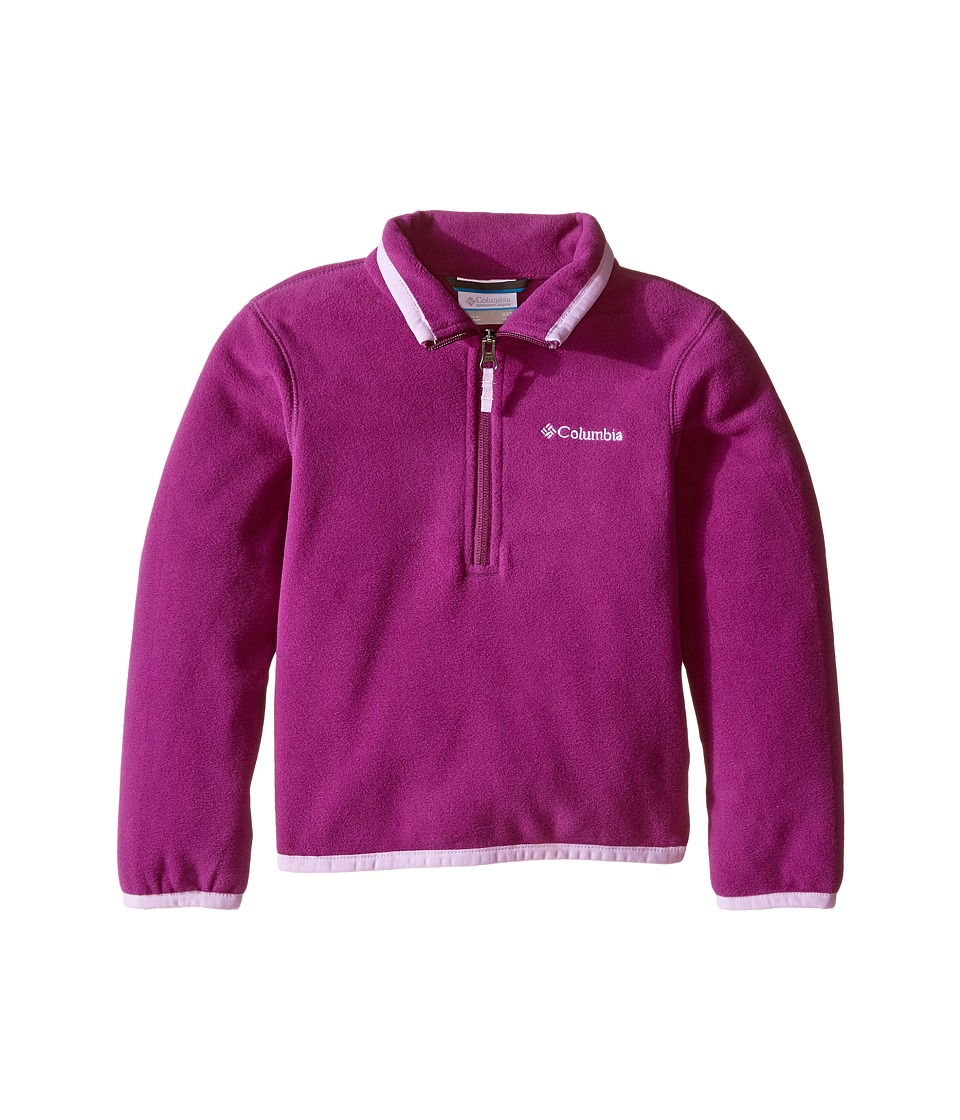 Columbia Kids - Ridge Repeat 1.0 Half Zip Fleece (Little Kids/Big Kids) (Plum Hydrangea) Girl's Long Sleeve Pullover