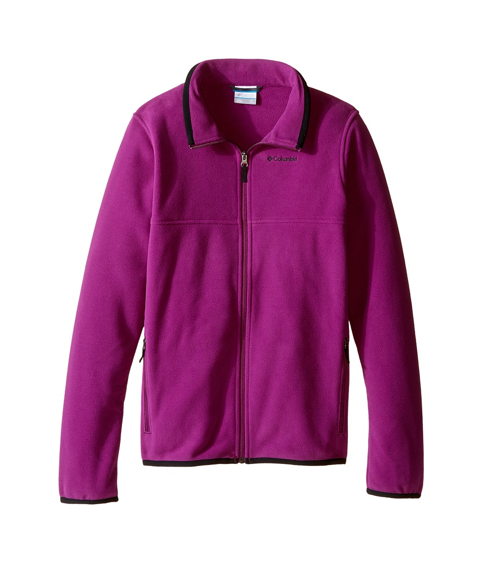 Columbia Kids - Fuller Ridge 2.0 Full Zip Fleece (Little Kids/Big Kids) (Plum/Black) Girl's Fleece
