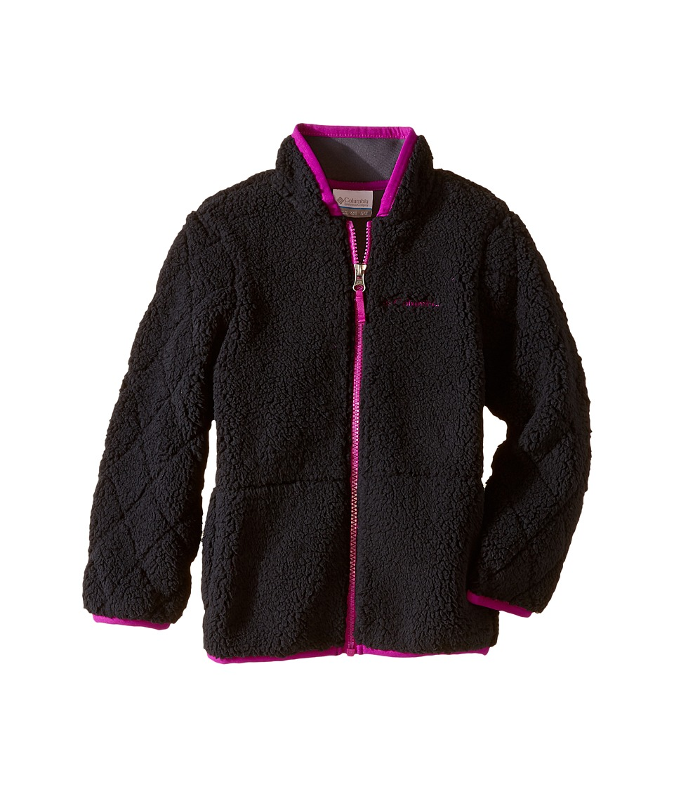 Columbia Kids - Two Ponds Full Zip Jacket (Little Kids/Big Kids) (Black/Bright Plum) Girl's Coat