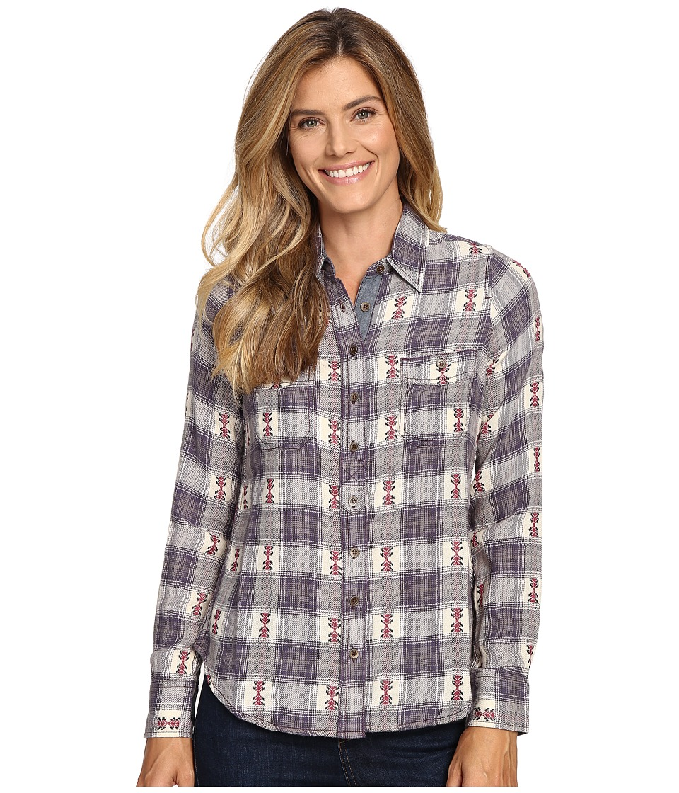 Aventura Clothing - Joey Long Sleeve Top (Mulled Grape) Women's Long Sleeve Button Up