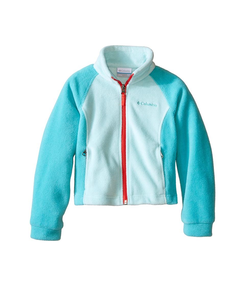 Columbia Kids - Benton Springs Fleece (Little Kids/Big Kids) (Spray/Miami/Red Camellia Zipper) Girl's Fleece