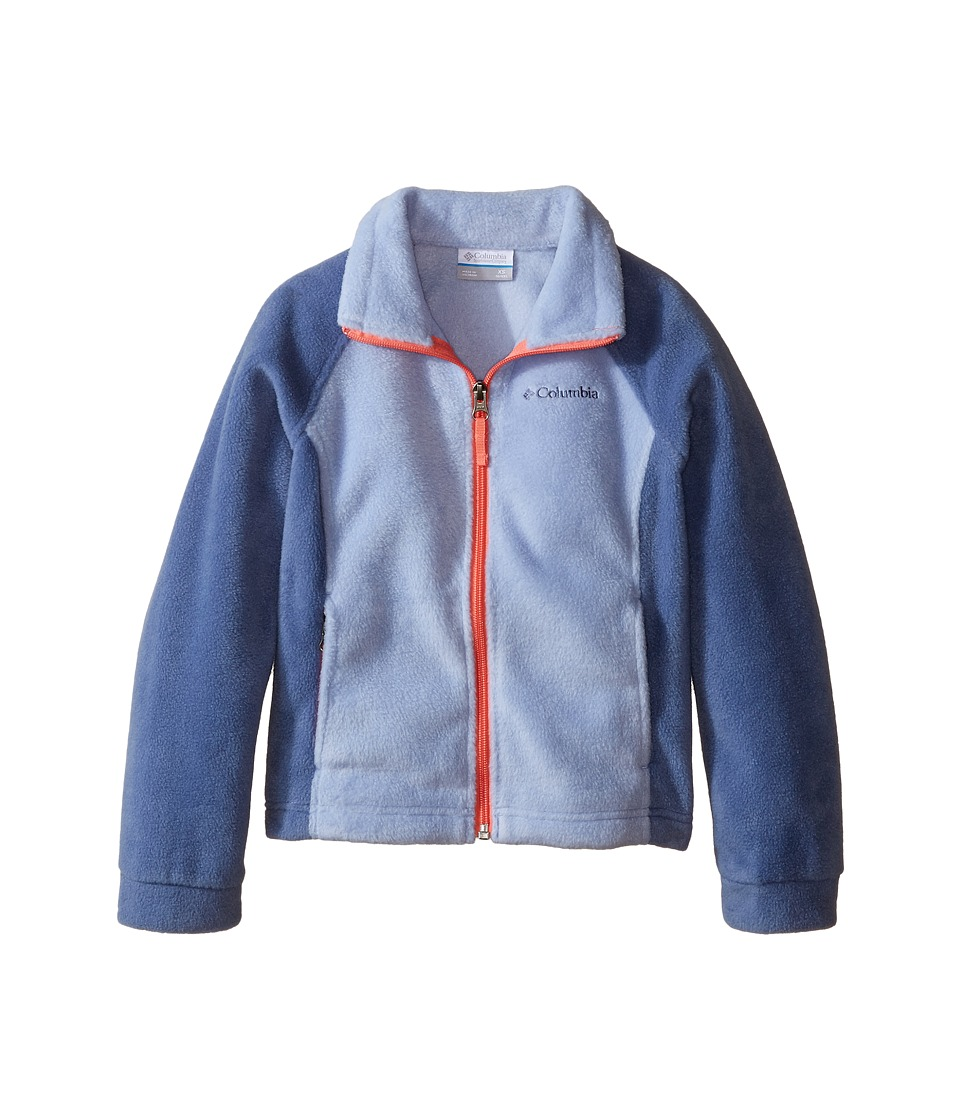 Columbia Kids - Benton Springs Fleece (Little Kids/Big Kids) (Empress/Bluebell/Hot Coral Zipper) Girl's Fleece
