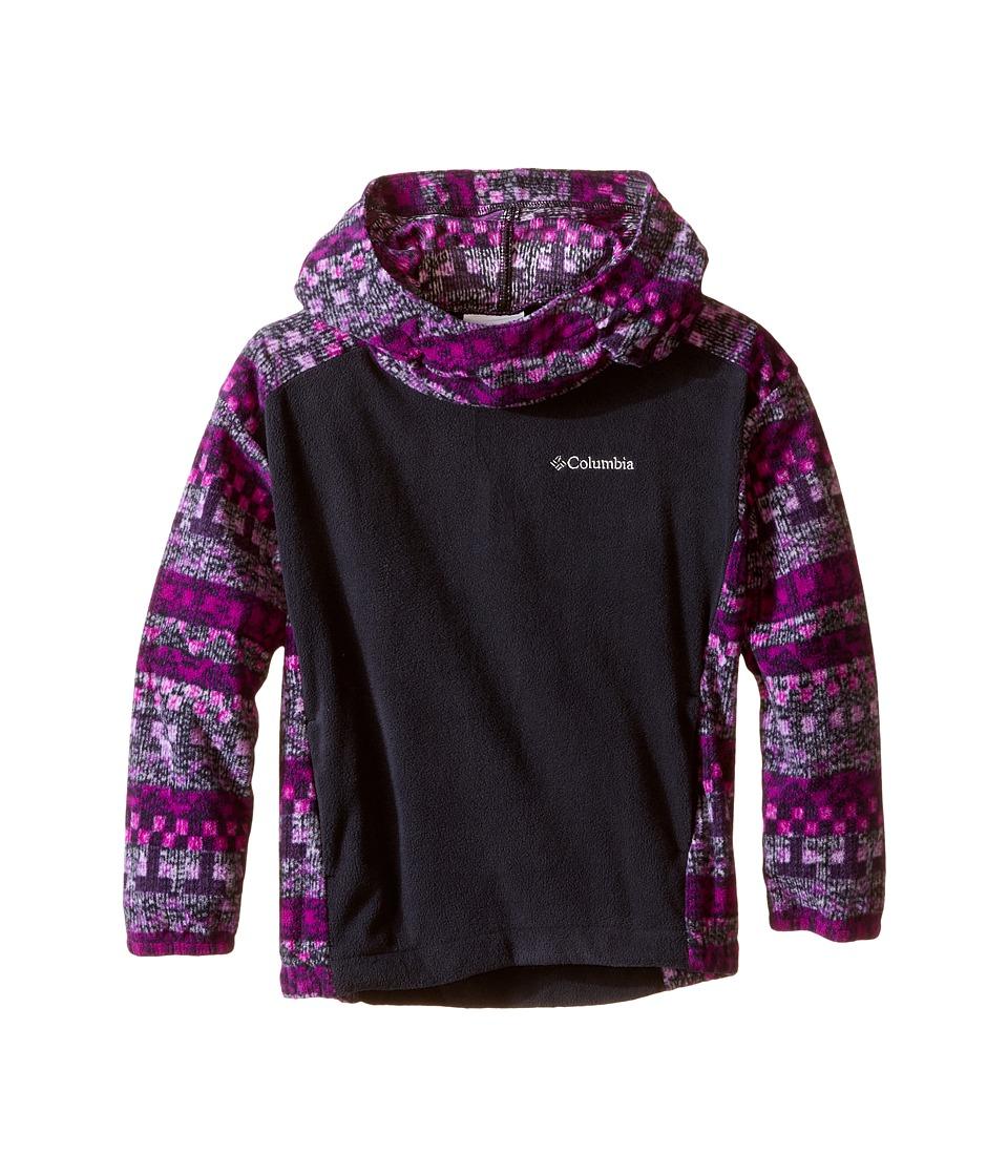 Columbia Kids - Glacial Fleece Novelty Hoodie (Little Kids/Big Kids) (Bright Plum Fairisle) Girl's Sweatshirt