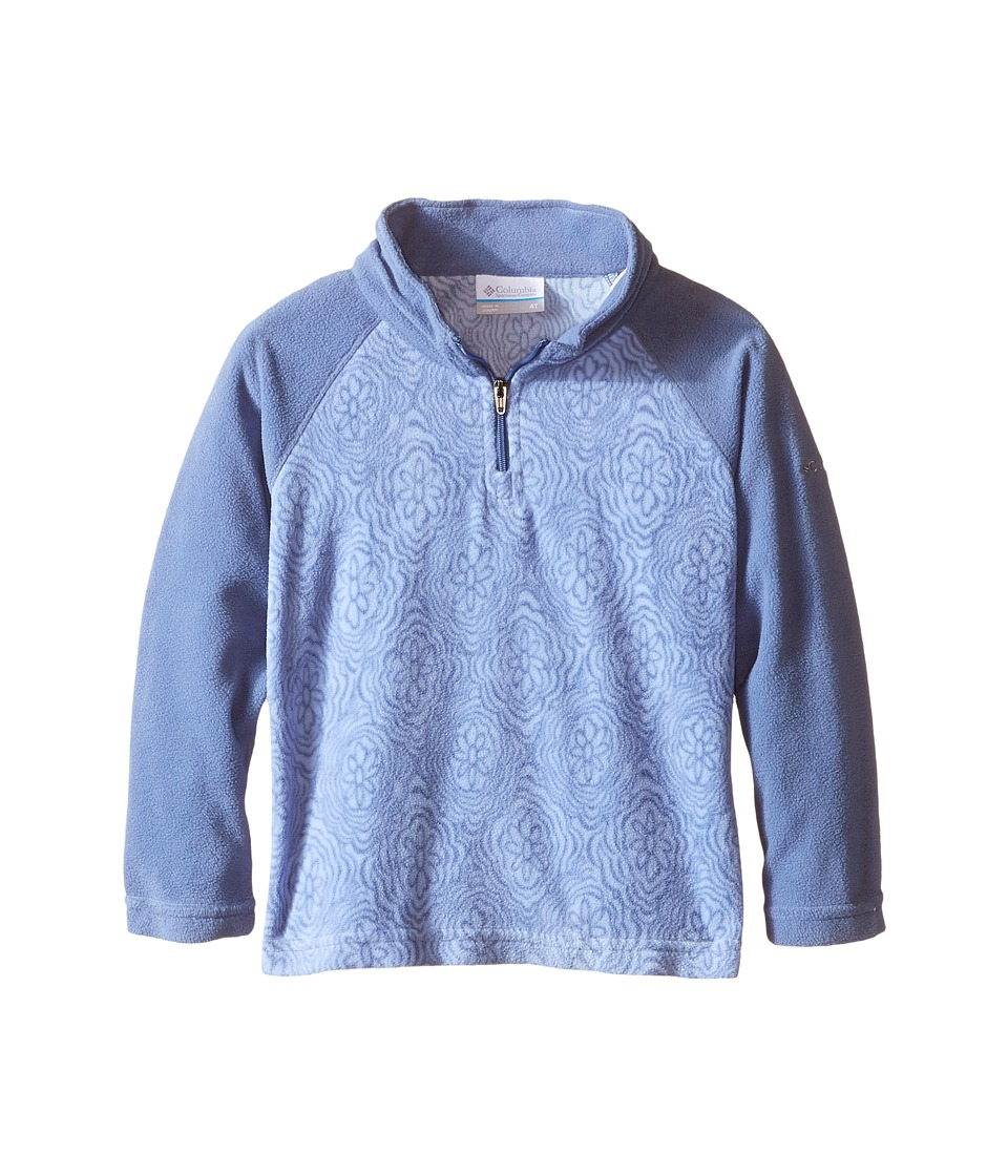 Columbia Kids - Glacial II Fleece Print Half Zip (Little Kids/Big Kids) (Bluebell/Bluebell Roses) Girl's Fleece
