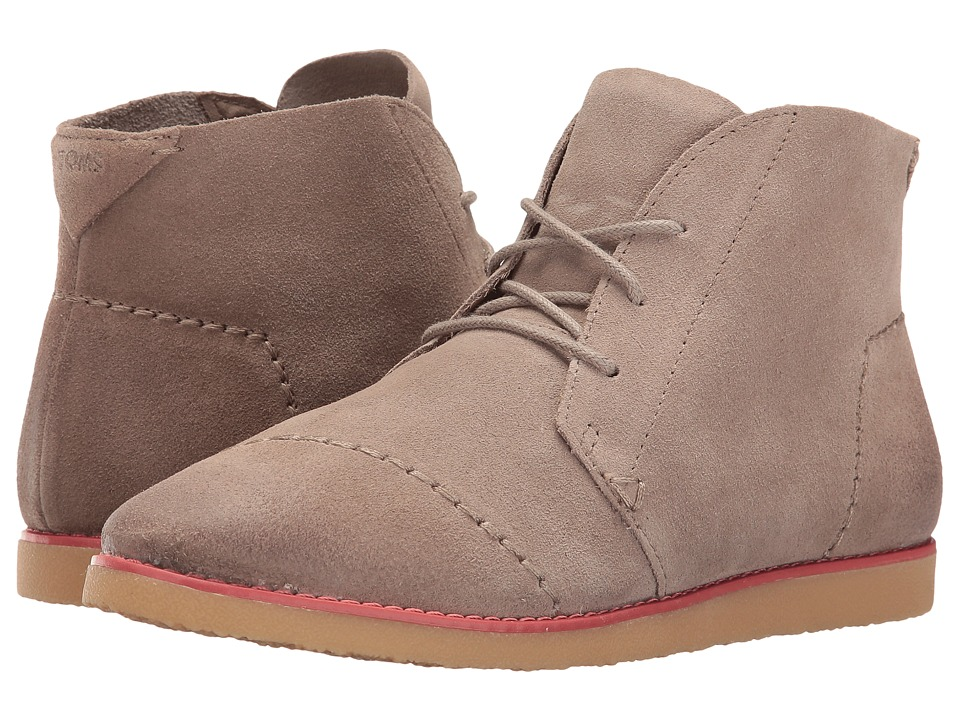 TOMS Mateo Chukka Bootie (Desert Taupe Burnished Suede) Women