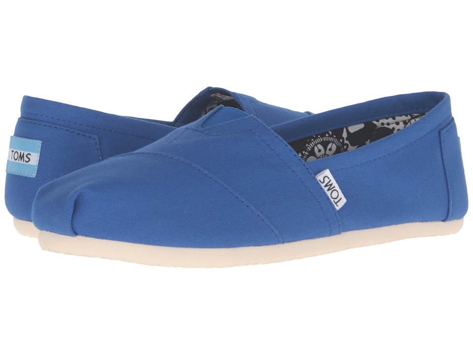 TOMS - Seasonal Classics (Turkish Sea Canvas) Women's Slip on Shoes