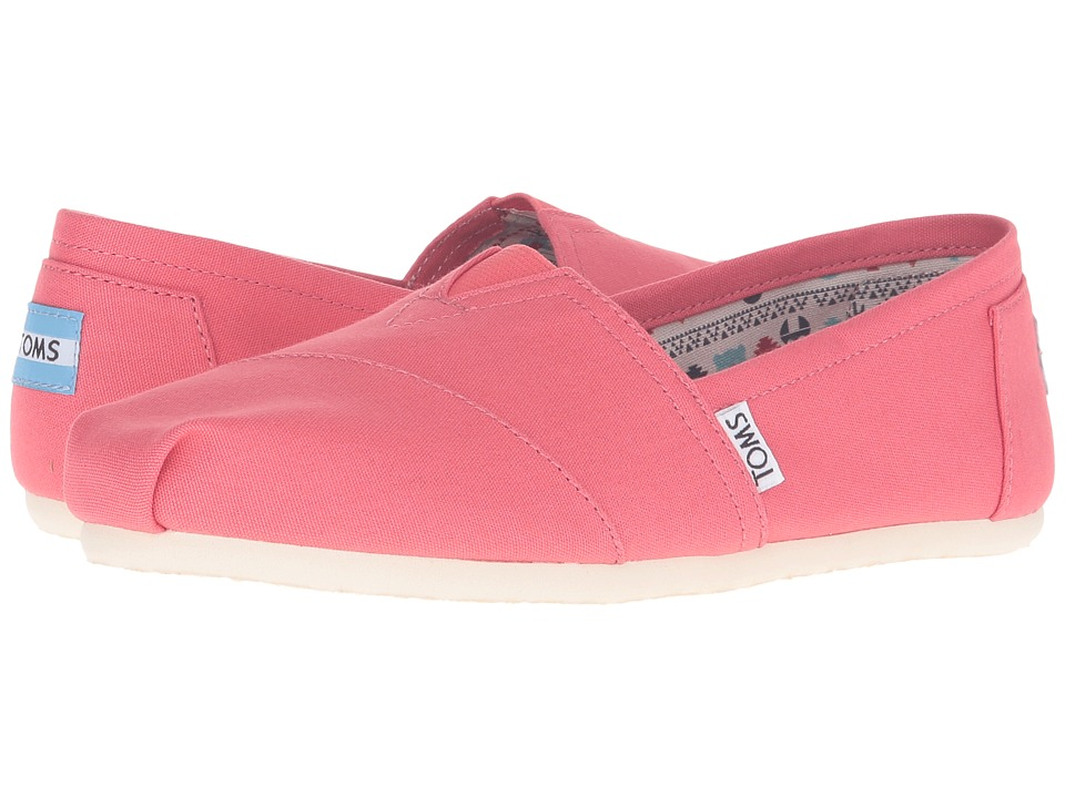 TOMS - Seasonal Classics (Spiced Coral Canvas) Women's Slip on Shoes