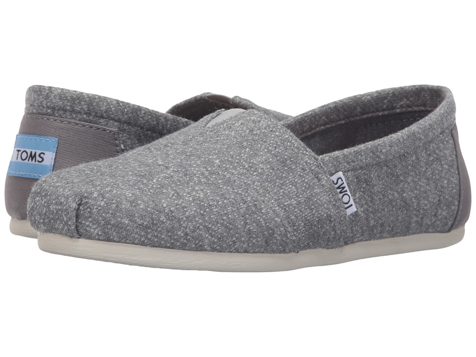 TOMS - Seasonal Classics (Grey Marl) Women's Slip on Shoes