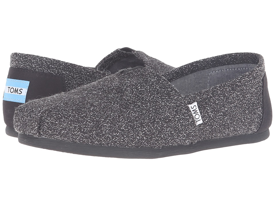 TOMS - Seasonal Classics (Black Marl) Women's Slip on Shoes