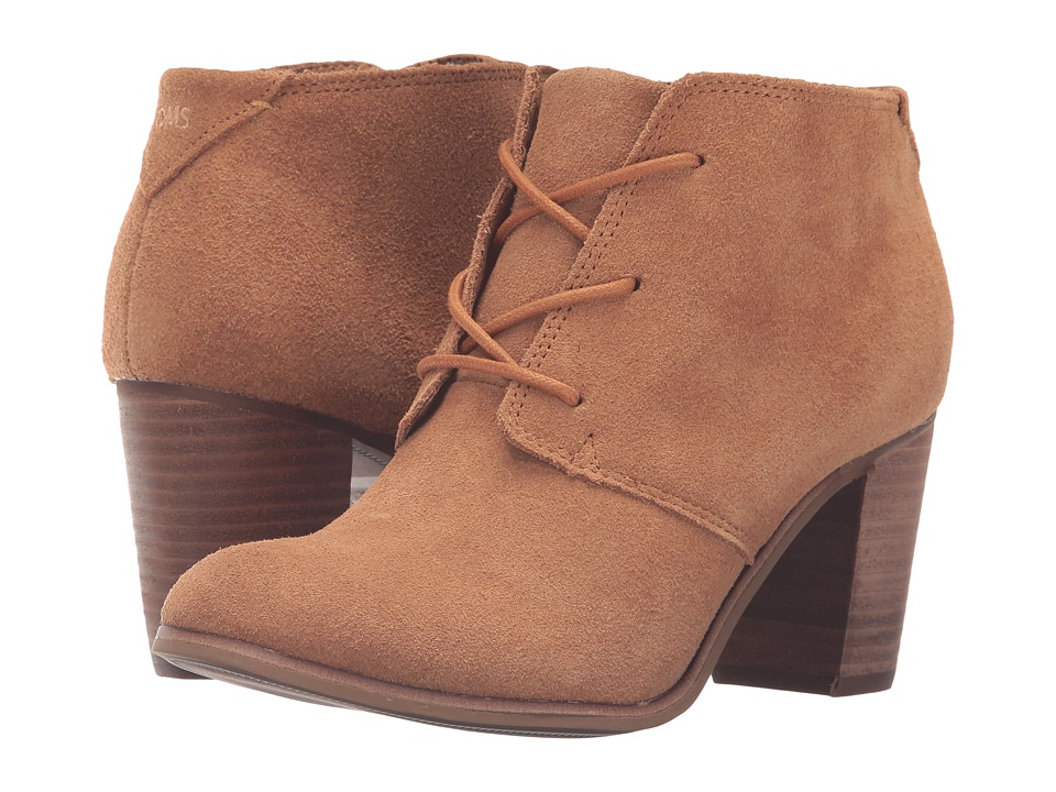 TOMS - Lunata Lace-Up Bootie (Wheat Suede) Women's Lace-up Boots