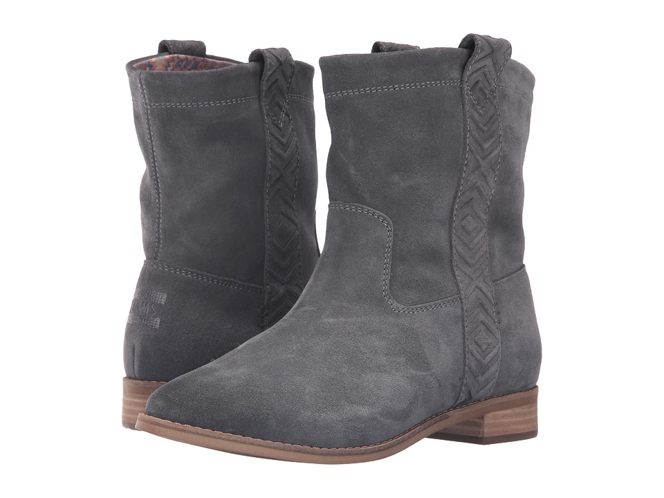 TOMS Laurel Boot (Castlerock Grey Burnished Suede) Women