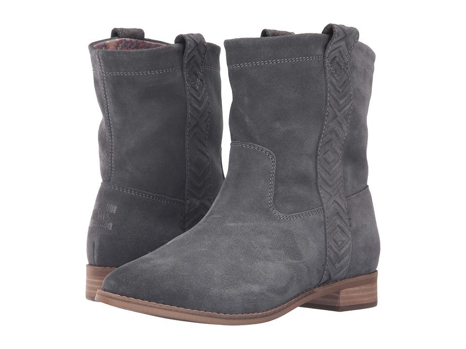 TOMS Laurel Boot (Castlerock Grey Burnished Suede) Women