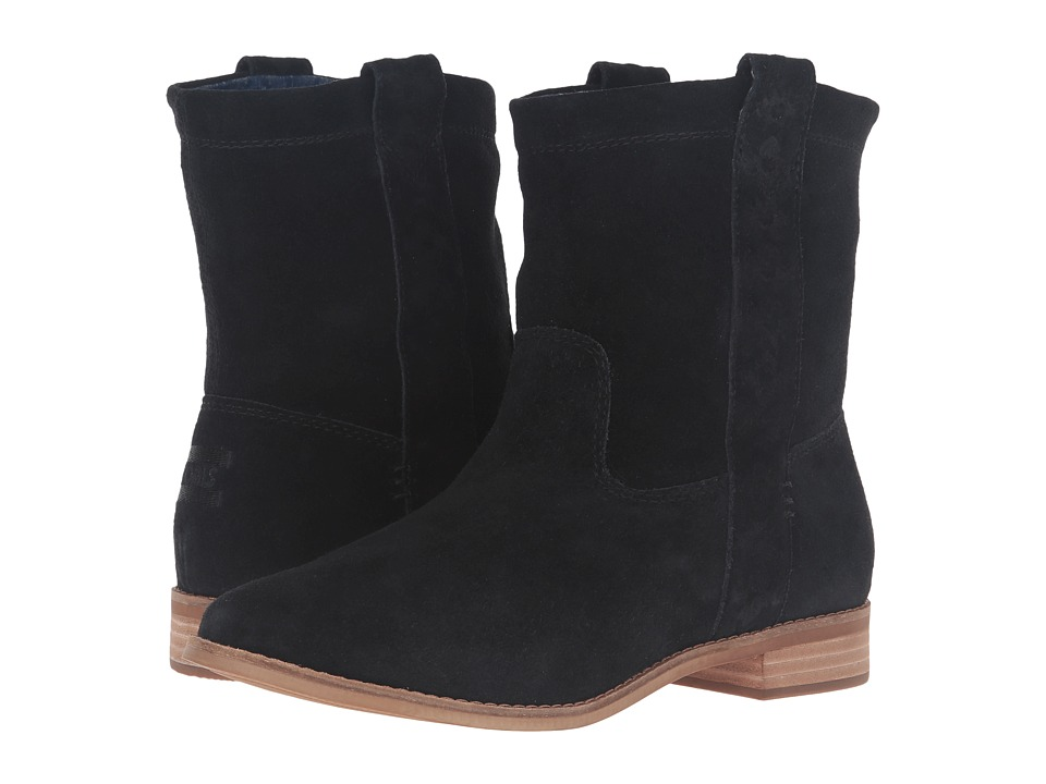 TOMS Laurel Boot (Black Suede) Women