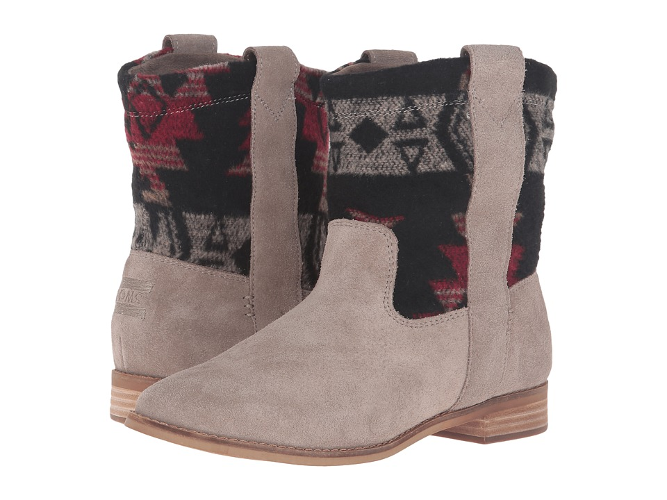 TOMS Laurel Boot (Desert Taupe Suede/Tribal Wool) Women