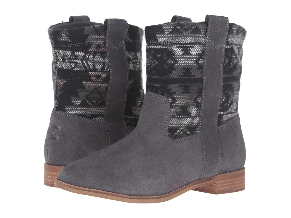 TOMS Laurel Boot (Castlerock Grey Suede/Tribal Wool) Women